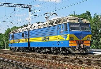 Ukrainian Railways - Electric locomotive DE1, built in Ukraine after fall of the Soviet Union