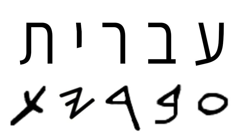 המילה עברית בכתב ובכתב העברי הקדום