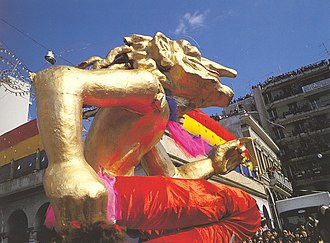 Patras Carnival - The Carnival floats during the Great Sunday Parade.