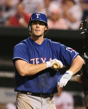 Jarrod Saltalamacchia - Saltalamacchia during his tenure with the Texas Rangers in 2009