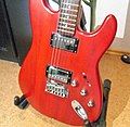 00 Squier Trans Fat Stratocaster body in red.jpg