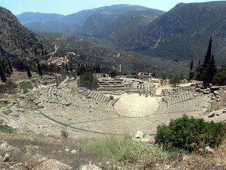 Phocis (ancient region) - The ruins of the Temple of Apollo, Delphi