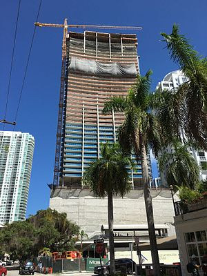 1010 Brickell - 1010 Brickell under construction in August 2016
