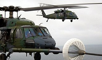 101st Rescue Squadron - Image: 101st Rescue Squadron HH 60G Pavehawk Helicopters Refueling In Air