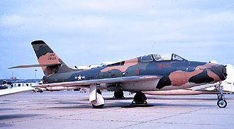 132nd Wing - 124th TFS Republic F-84F-25-RE Thunderstreak, AF Ser. No. 51-1655, about 1970