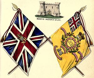 Suffolk Regiment - Regimental colours, 1848