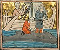 13th-century whale art detail, from- A Fisherman on the Back of a Whale - Google Art Project (cropped).jpg