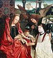 1510 Meister des Antwerpener Marien-Tryptichons Maria mit dem Kind, dem Erzengel Michael und einem Stifter anagoria.JPG