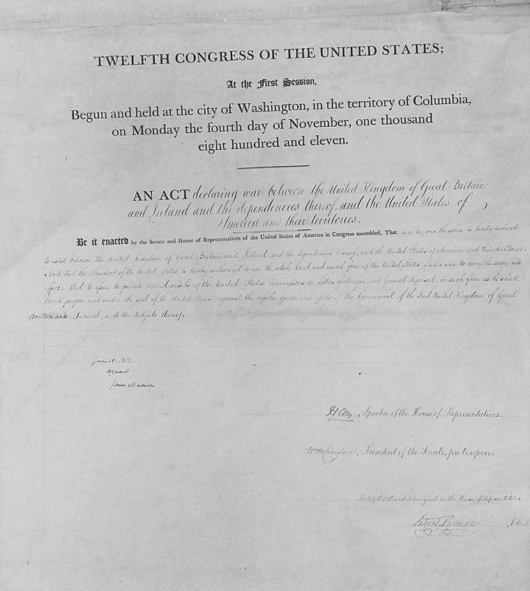 1812 War Declaration