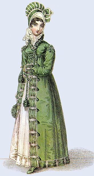 Pelisse - Image: 1817 walking dress La Belle Assemblee