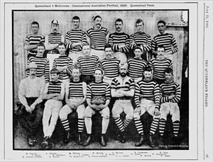 Australian rules football in Queensland - The Queensland state team who played Melbourne in 1888