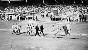 Chile at the 1912 Summer Olympics - The team of Chile at the opening ceremony.