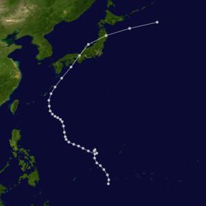 1934 Muroto typhoon - Track of the Muroto typhoon