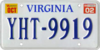 1993–2002 series Virginian license plate, with October 2002 sticker.png