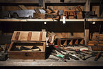 19th century work bench with many tools, Auckland - 0866.jpg