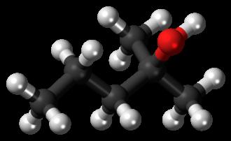2-Methyl-2-pentanol - Image: 2 Methylpentan 2 ol molecule ball