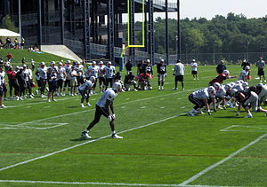 2007 New England Patriots season - Randy Moss lined up with the offense during the first training camp practice
