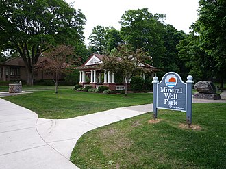 Petoskey, Michigan - Mineral Well Park is one of many sites and buildings in Petoskey listed on the National Register of Historic Places.