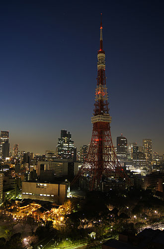 Electrical grid - A brownout near Tokyo Tower in Tokyo, Japan.