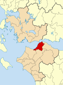 Patras Municipality within the region of West Greece