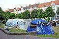 2014-06-02 Sudan Flüchtlinge Protest gegen Abschiebung, Weißekreuzplatz Hannover, (01) Hungerstreik.jpg