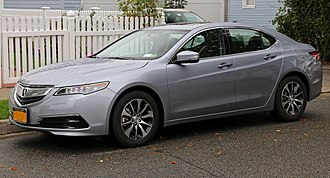 D-segment - Image: 2015 Acura TLX (front left)