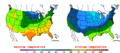2016-04-12 Color Max-min Temperature Map NOAA.png