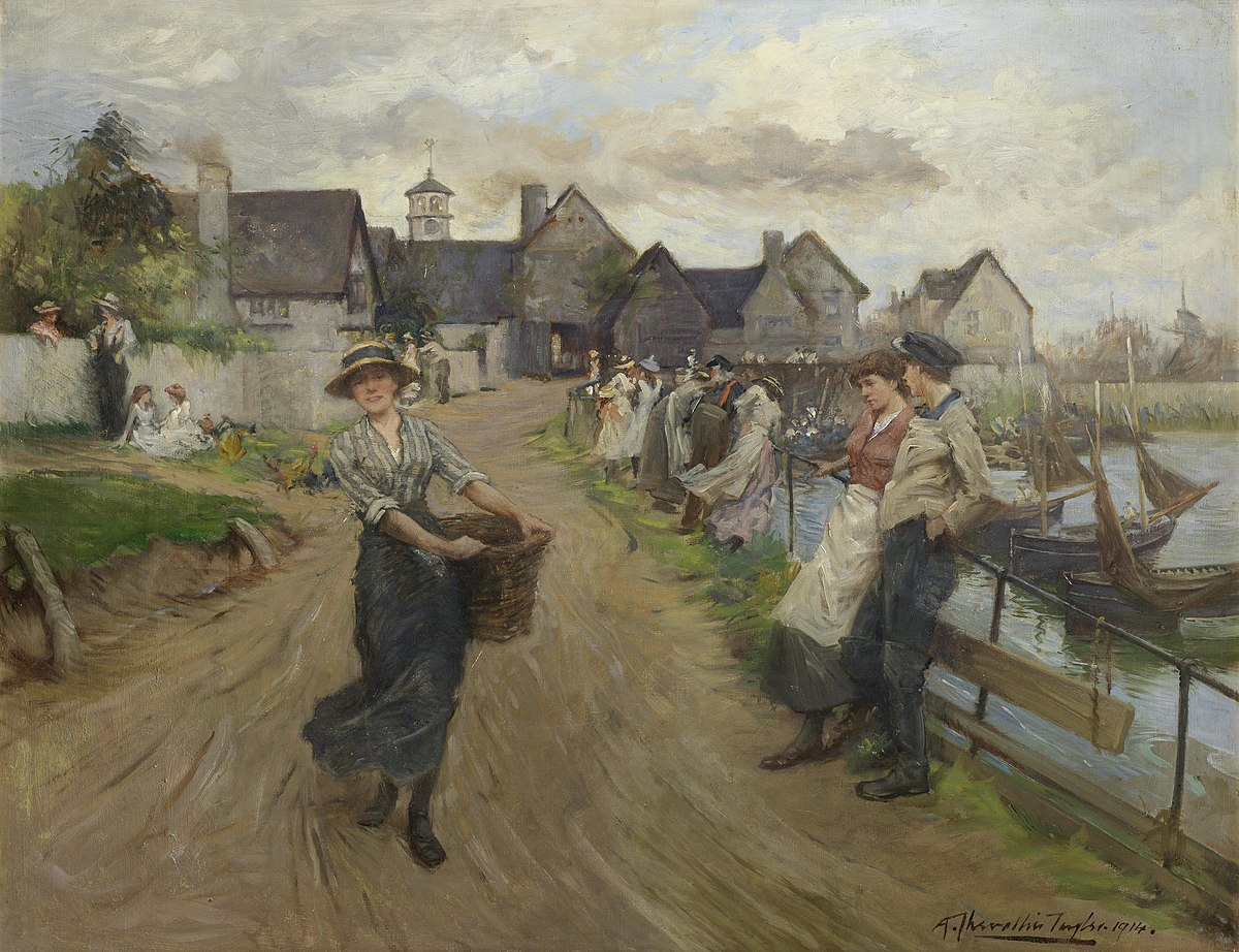 Image result for 19th century impressionist paintings promenades
