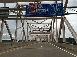 Hi Carpenter Memorial Bridge - View while crossing the bridge from West Virginia to Ohio