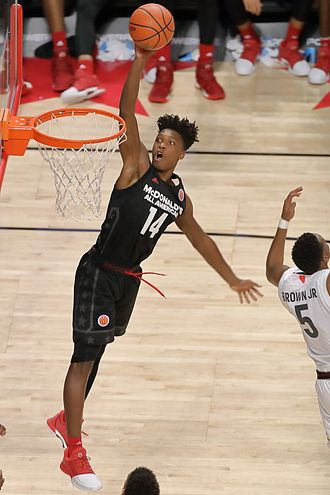2017–18 Miami Hurricanes men's basketball team - Miami recruit Lonnie Walker at the 2017 McDonald's All-American Boys Game.