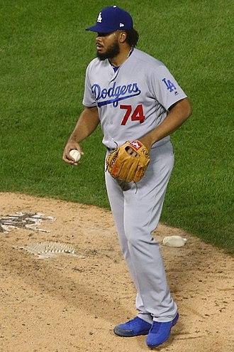 Kenley Jansen - Image: 20170718 Dodgers White Sox Kenley Jansen with the ball
