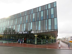 Delft railway station - New building giving access to the underground platform