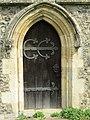 2018-04-23 Side doorway, parish church of Saint James, Southrepps, Cromer.JPG