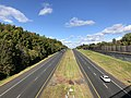 2018-10-29 14 42 11 View north along Virginia State Route 286 (Fairfax County Parkway) from the overpass for Virginia State Route 667 (Pinecrest Road) in Floris, Fairfax County, Virginia.jpg