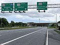 2020-06-20 17 28 13 View south along Maryland State Route 170 (Telegraph Road) at the interchange with Maryland State Route 100 (TO Interstate 97, Annapolis, Ellicott City, Washington) in Severn, Anne Arundel County, Maryland.jpg