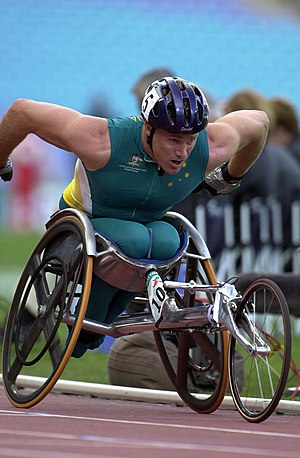 John Maclean (sportsperson) - Action shot of Maclean during the 10 km final at the 2000 Sydney Paralympics