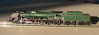 SNCF Class 241P - A scale model of a 241.P locomotive