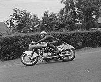 250cc klasse. Winnaar Werner Haas op NSU, Bestanddeelnr 905-8050.jpg