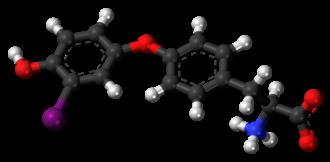 3'-Monoiodothyronine - Image: 3' Monoiodothyronine zwitterion 3D ball