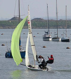 3000 (dinghy) - Pointing high with the gennaker