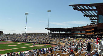 Press boxes and suites at camelback ranch