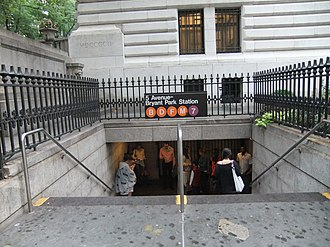 42nd Street–Bryant Park/Fifth Avenue (New York City Subway) - Entrance to the IRT section of the complex