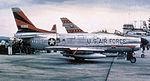 496th Fighter-Interceptor Squadron North American F-86D Sabre 51-6165.jpg