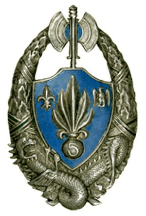 5th Foreign Infantry Regiment - Regimental insignia of 5e REI