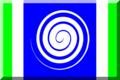 600px Blu con strisce Verde e Bianca e vortice.png