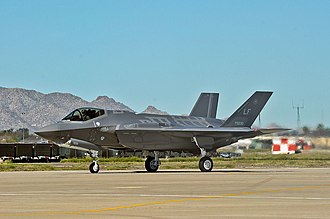 61st Fighter Squadron - A 61st Fighter Squadron F-35 Lightning II arrives at Luke AFB, April 2014
