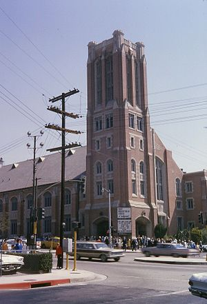 First Presbyterian Church of Hollywood - Front of the First Presbyterian Church of Hollywood, August, 1964.