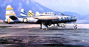 69th Fighter Squadron - 69th Fighter Squadron F-84E Thunderjet 51-535 Taegu Air Base (K-2), South Korea, 1952