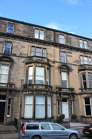 Daniel Macnee - Mcnee's large house at 6 Learmonth Terrace, Edinburgh