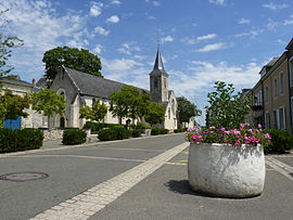 A view in the village of Solesmes